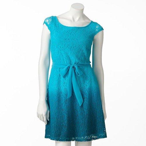 Lc lauren conrad lace dip-dyed dress