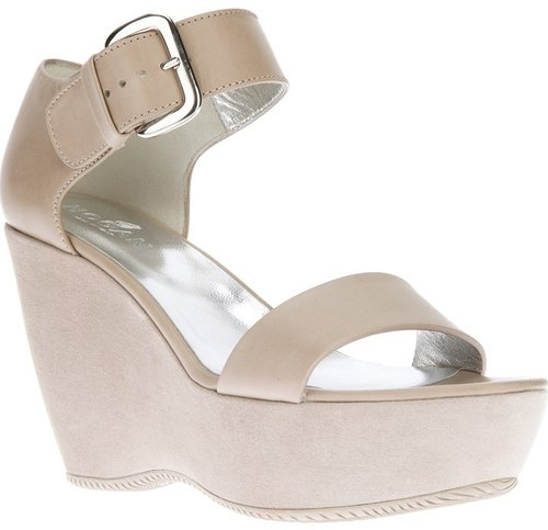 Hogan buckled wedge sandal