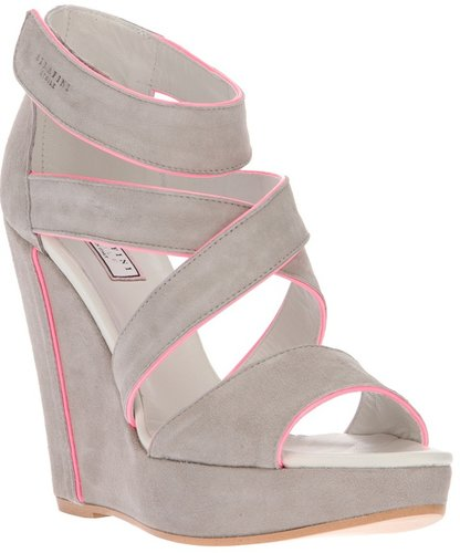 Serafini bi-colour sandal wedge