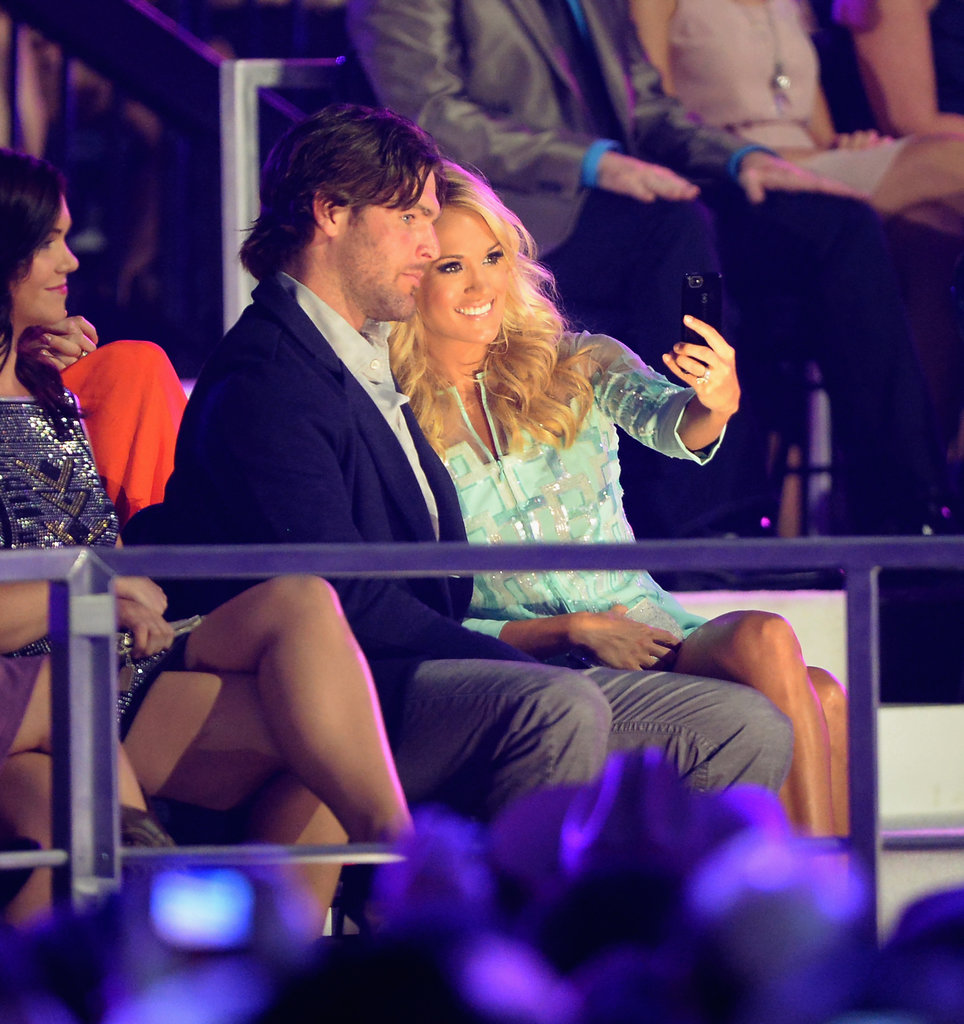 Carrie Underwood turned the camera on herself and husband Mike Fisher at the CMT Awards in Nashville in June 2013.