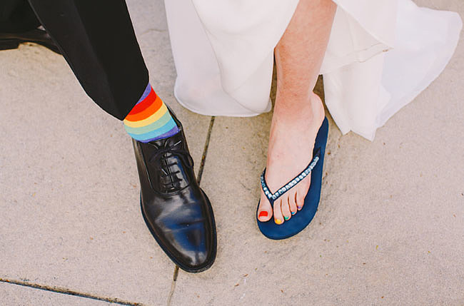 Rainbow Groom Socks