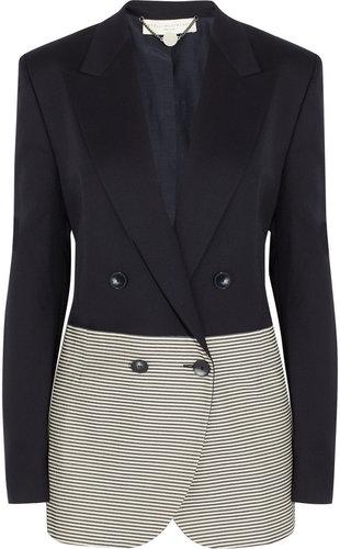 Stella McCartney Wool-twill and striped cotton blazer