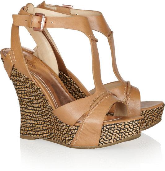 Belle Sigerson Morrison Braiden 2 leather and raffia wedge sandals