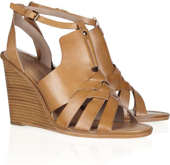 Pour la Victoire Isadora leather wedge sandals