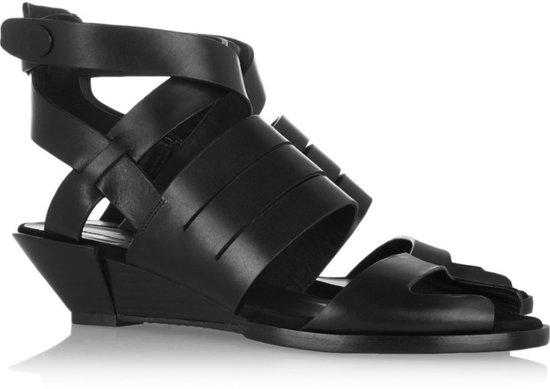 Alexander Wang Dalane cutout leather wedge sandals