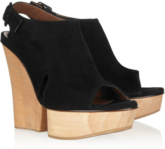 Marni Suede and wood wedge sandals