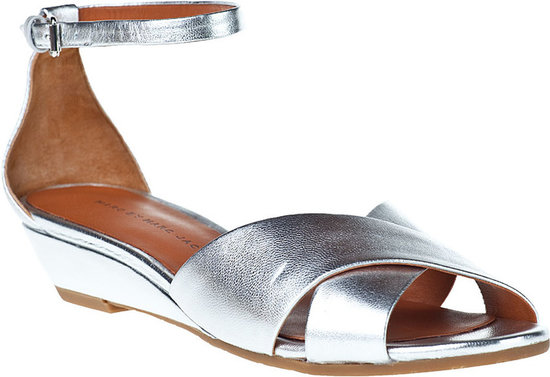 MARC BY MARC JACOBS 635344 Wedge Sandal Champagne Leather