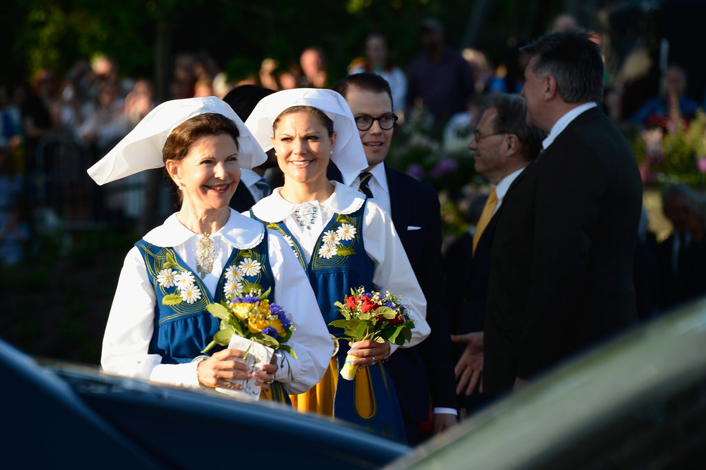 Princess Victoria and her mother, Queen Silvia, looked adorable in their traditional ensembles.