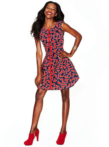 Fashion Star Dress, Sleeveless Printed Shirtdress