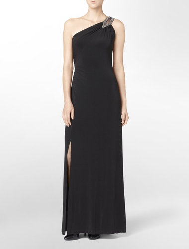 One Shoulder Embellished Gown