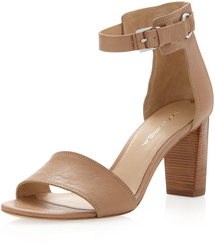 Via Spiga Christina Open-Toe Ankle-Strap Pump, Cappuccino