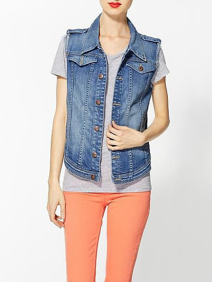 Throw this Blank Denim Cut-Off Vest ($79) over everything, period.