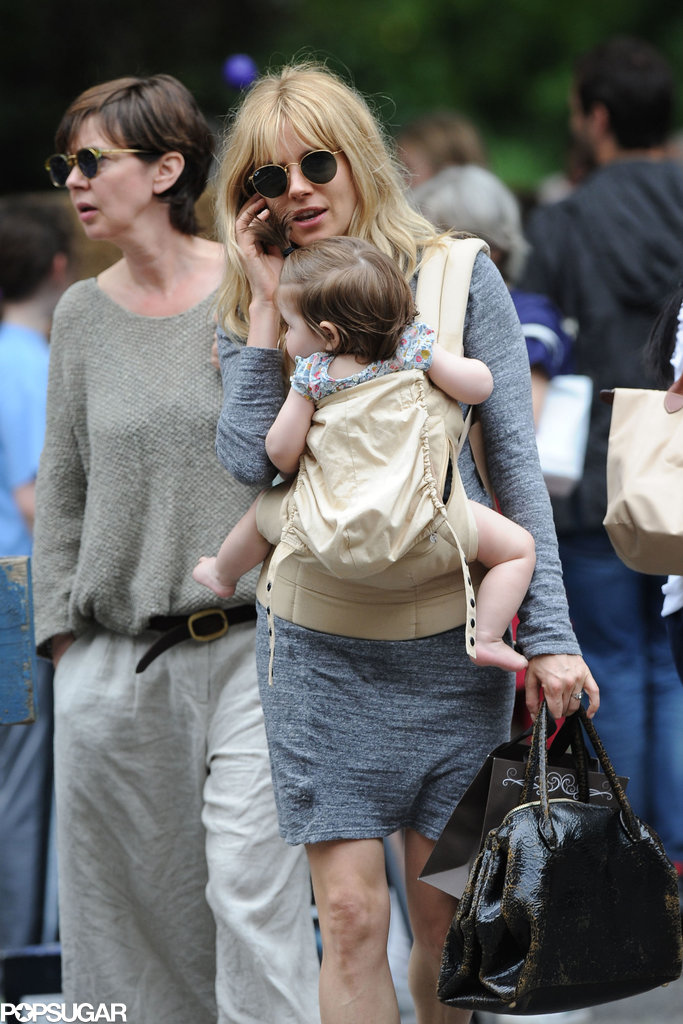 sienna miller walked with baby marlowe in nyc sienna