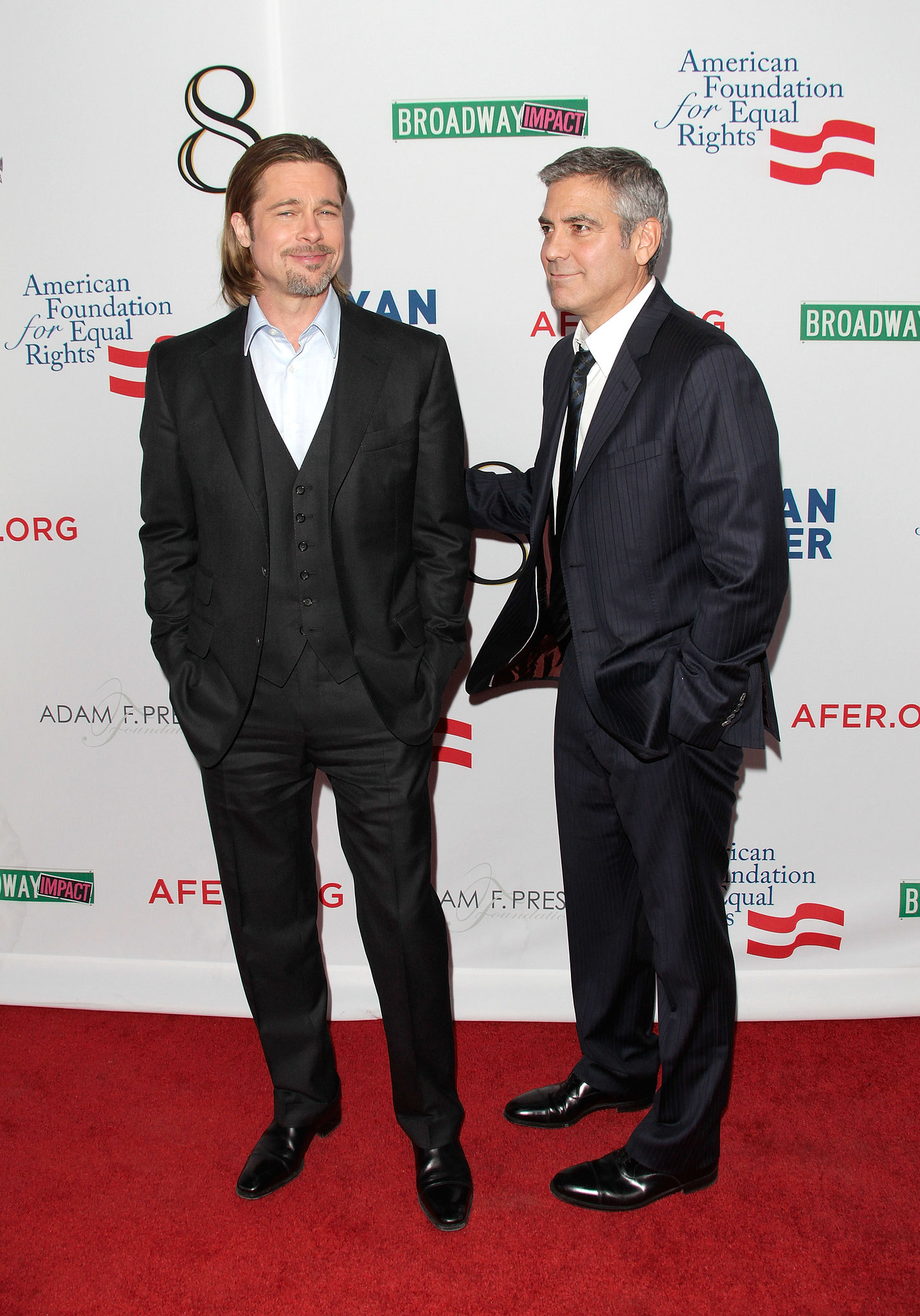 Brad Pitt and George Clooney put their friendship on the big screen in the Ocean's series. The guys