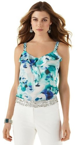 Watercolor Ruffle Tank