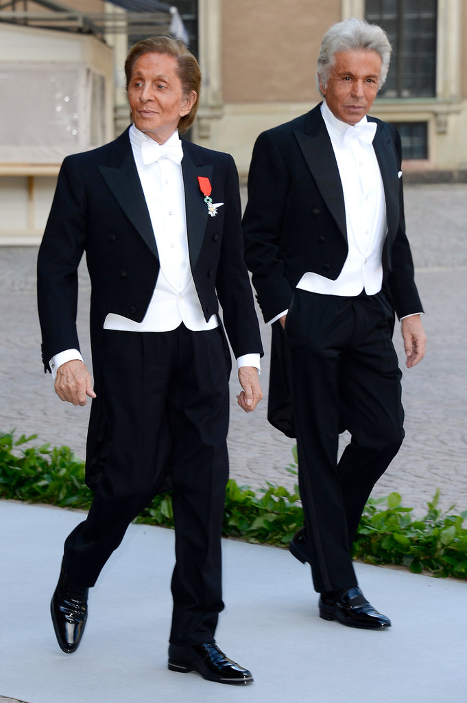 Valentino and his partner Giancarlo Giametti attended the wedding of Princess Madeleine of Sweden and Christopher O'Neill.