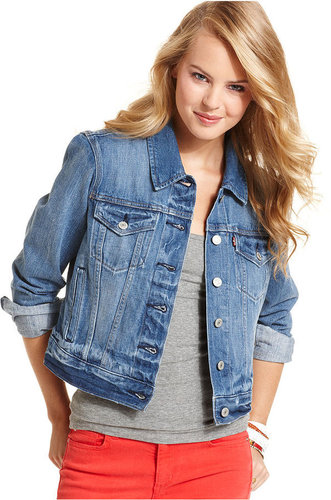 Levi's Juniors Jacket, Authentic Trucker Denim, Rosebud Blue Wash