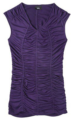Mossimo® Womens Ruched Sleeveless V-Neck - Assorted Colors