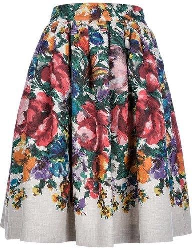 Dolce & Gabbana floral mid length skirt