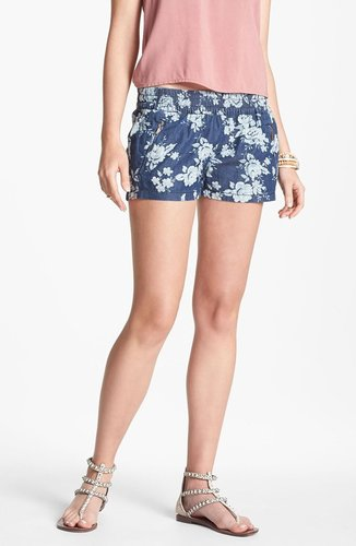 Fire Floral Chambray Shorts (Juniors)