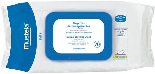 Mustela Fragrance Free Dermo Soothing Wipes - 70 ct