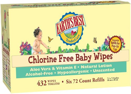 Earth's Best Value Pack Baby Wipes Refill 432ct.