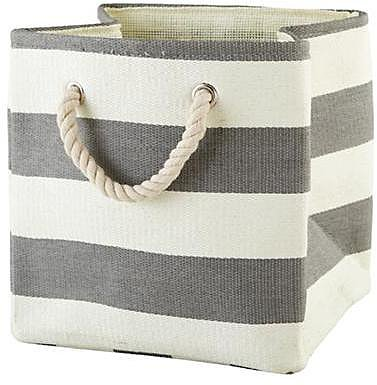 Grey Stripes Around the Cube Bin