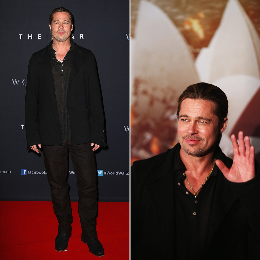 Brad Pitt Brings His Star Power to The Star For World War Z's Australian Premiere