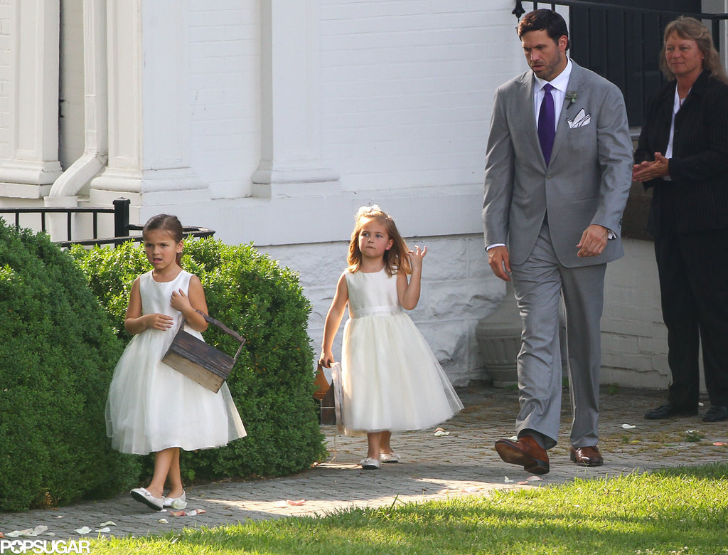 No wedding is complete without adorable little girls in white dresses.