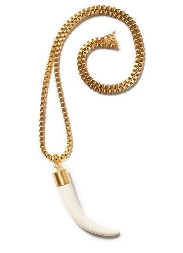 Horn Pendant on Box Chain