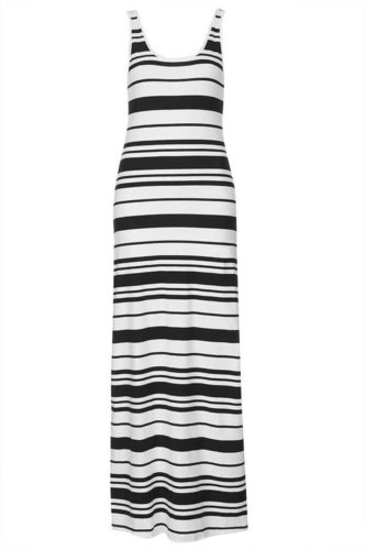 Stripey Scoop Back Maxi Dress
