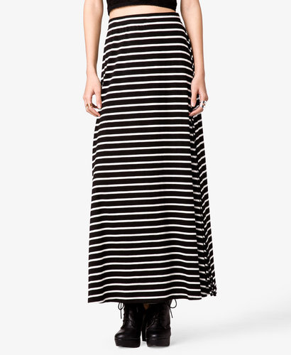 FOREVER 21 Striped Maxi Skirt