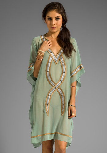 6 SHORE ROAD Kuna Beaded Kaftan