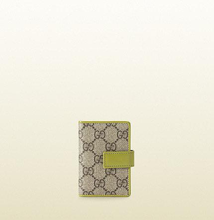 GG supreme canvas book card case