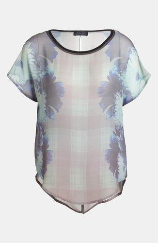 ASTR Sheer Print Top