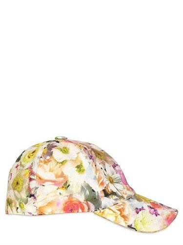 Flower Printed Cotton Drill Hat