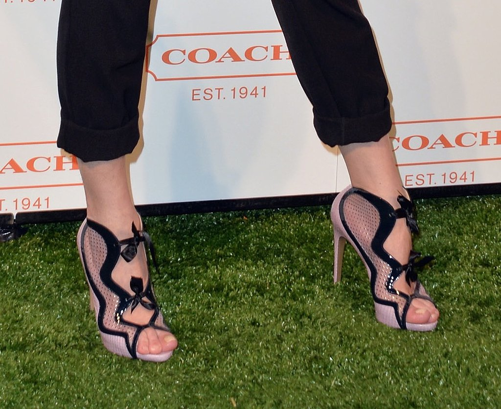 Between the bows, cutouts, and sheer detail, Milla's booties made a loud statement.
