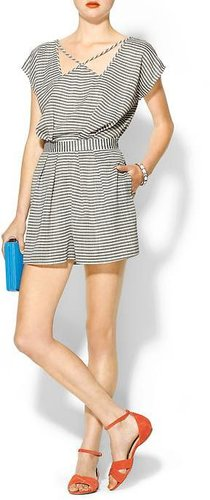 BCBGeneration Striped Romper