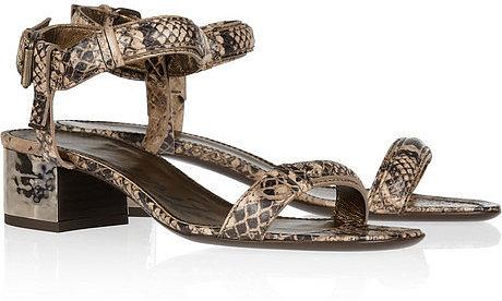 Lanvin Snake-effect leather sandals