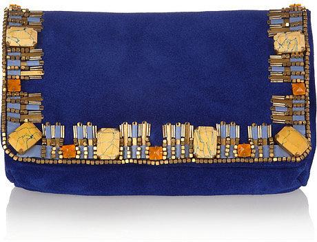 Matthew Williamson Poppy small embellished clutch