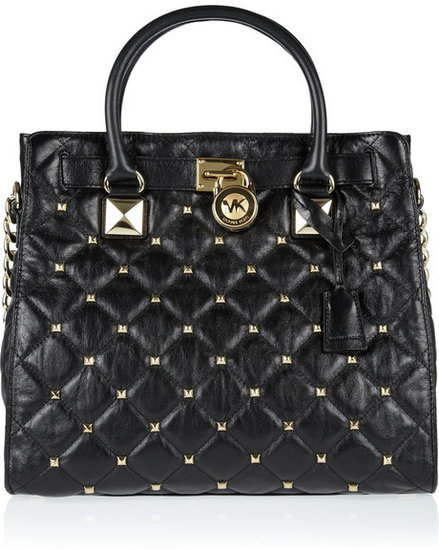 MICHAEL Michael Kors Hamilton studded quilted leather tote