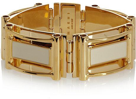 Marni Enameled gold-tone bracelet
