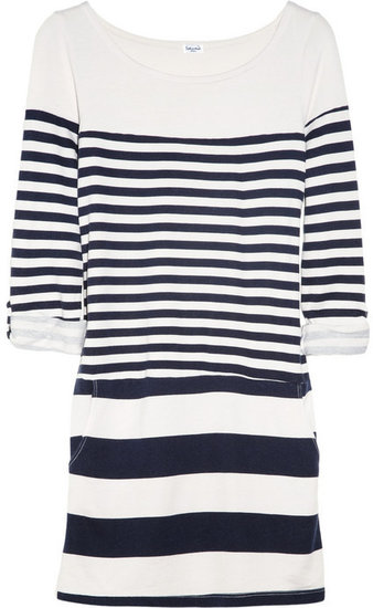 Splendid Striped modal and cotton-blend dress
