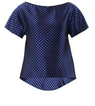 Osman Checkered brocade top