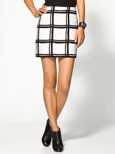 Tibi Checkered Border Mini Skirt