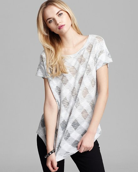 MARC BY MARC JACOBS Top - Gauze Check Knit