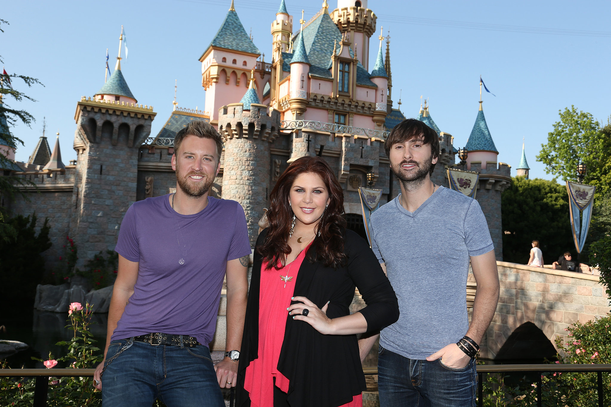 Lady Antebellum visited the Anaheim, CA, park in April 2013.