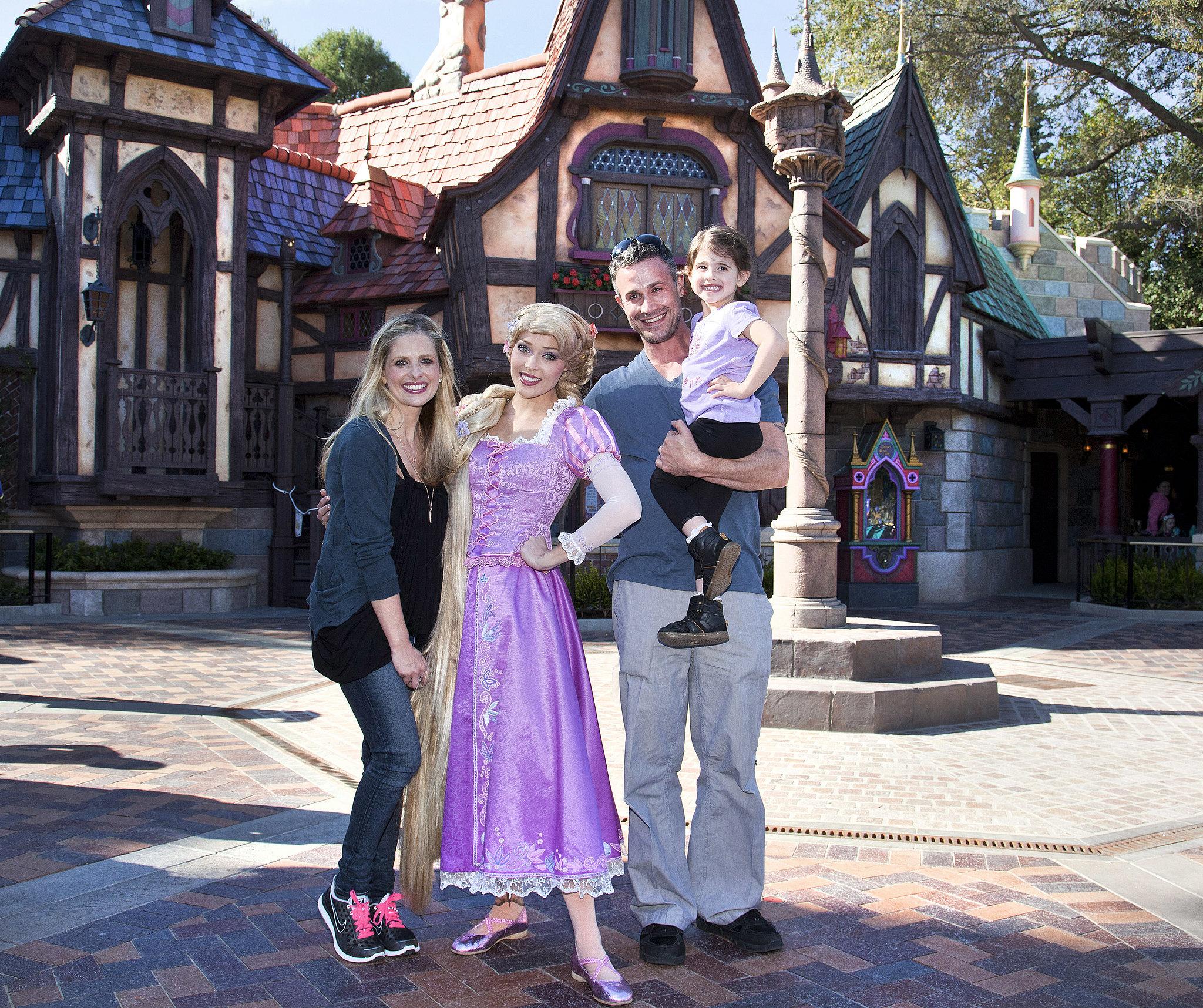 Sarah Michelle Gellar and Freddie Prinze Jr. took their daughter, Charlotte, to Disneyland in March 2013.