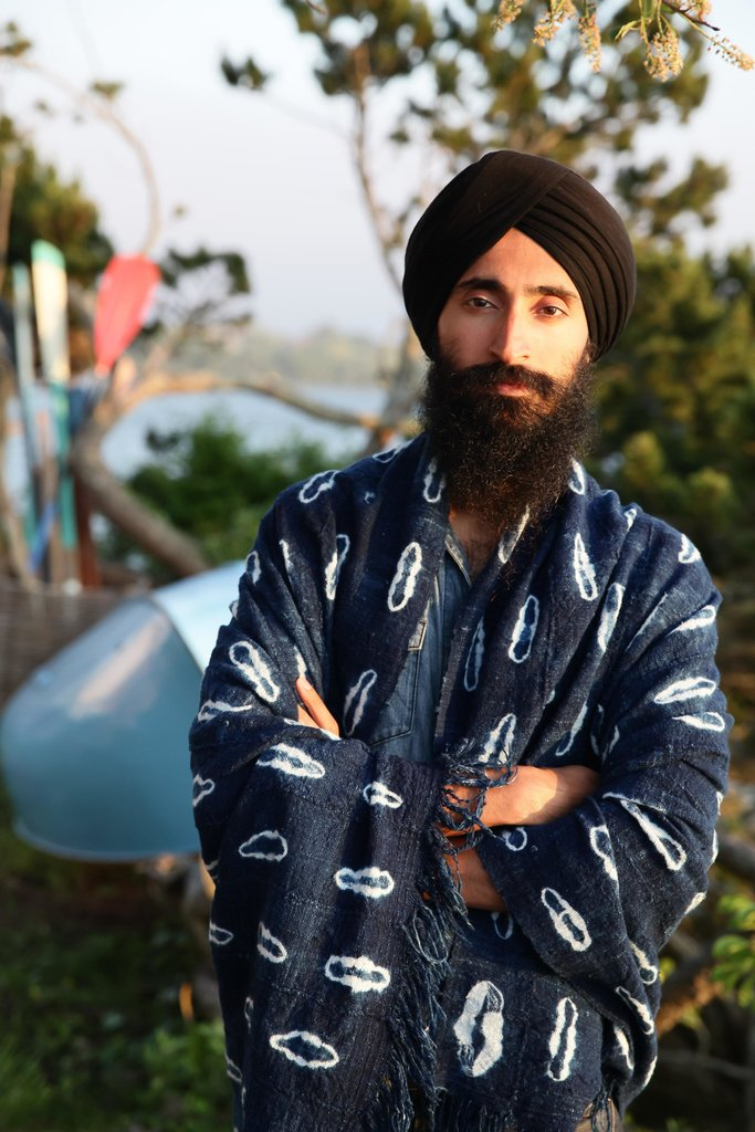 Waris Ahluwalia at a party thrown by Max Snow at the Surf Lodge in Montauk, New York.  Source: Matteo Prandoni/BFAnyc.com