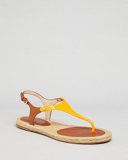 KORS Michael Kors Espadrille Thong Sandals - Stephy Flat